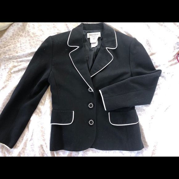 13844802a Yves Saint Laurent YSL Vintage blazer/ pea coat